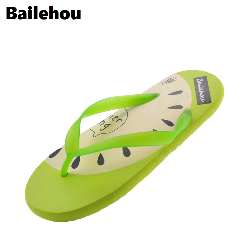 Bailehou Women Flat Slippers Flip Flops Beach Slipper Cute Slides Women New Flats Casual Shoes Slip On Sandal Vacation Colorful women slippers ladies shoes slip on slider fluffy faux fur flat fashion female leopard slipper flip flop sandal zapatos mujer