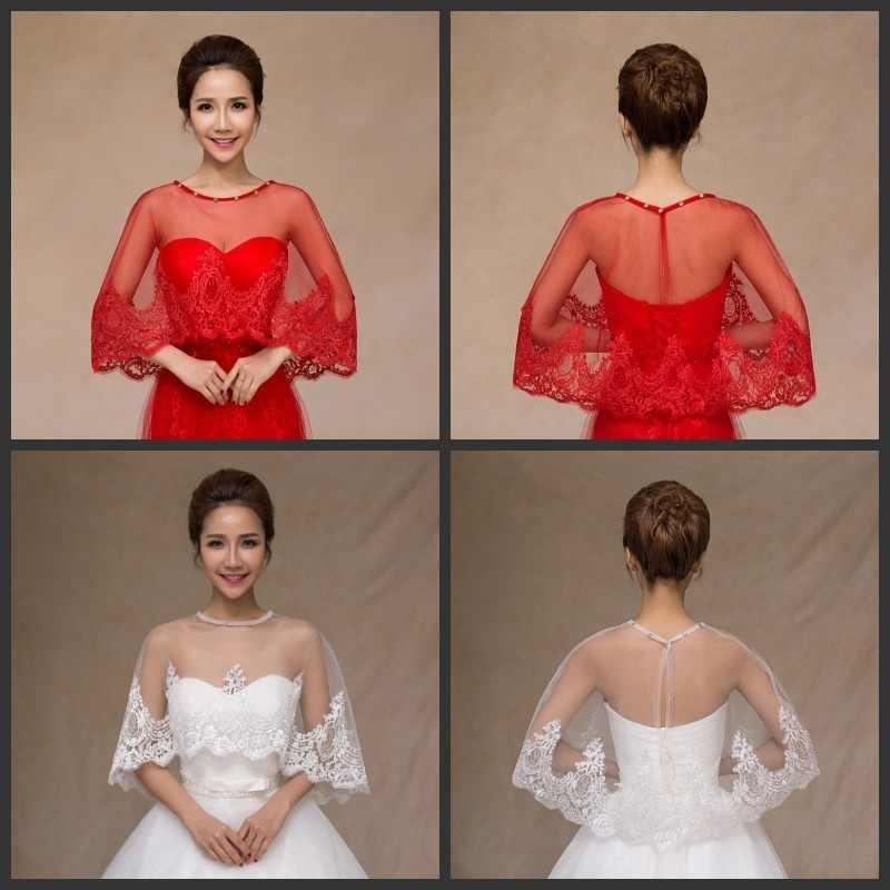 199389c6b54 Summer White Wedding Bolero Crystals Lace Shrug Shawl Women Bolero For  Wedding Jacket jaqueta feminina Wedding
