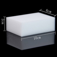 1Pcs 100x60x20mm White Magic Cleaning Dishwashing Scrub Compressed Eraser Melamine Sponge Kitchen Bathroom Accessories Items E