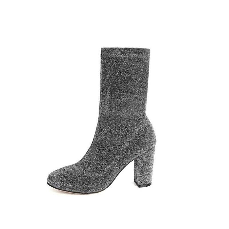 Dai Yun 2017 Autumn fashion new pattern round toe font b cowboy b font elastic