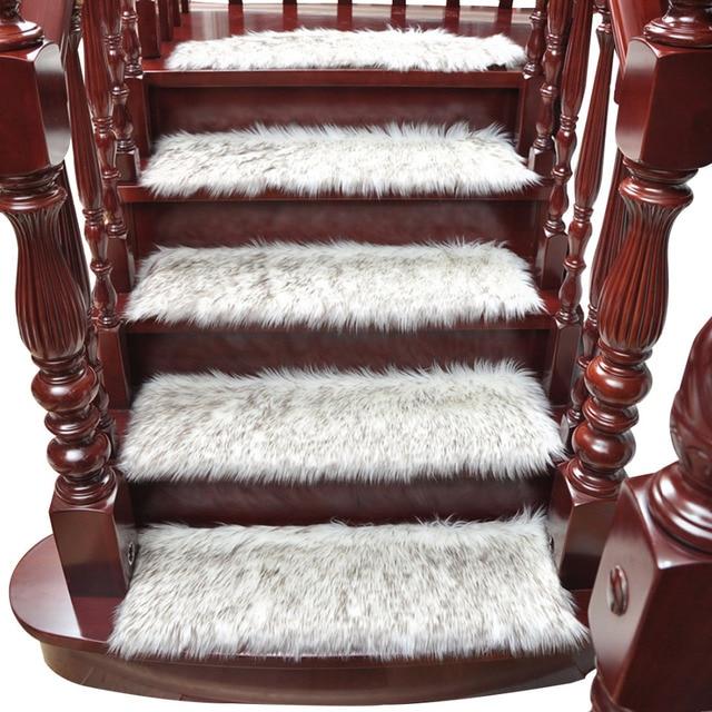 Os Tapetes da escada Tapete Escada Treads 1 Peça À Prova de Poeira Protetor de Tapete