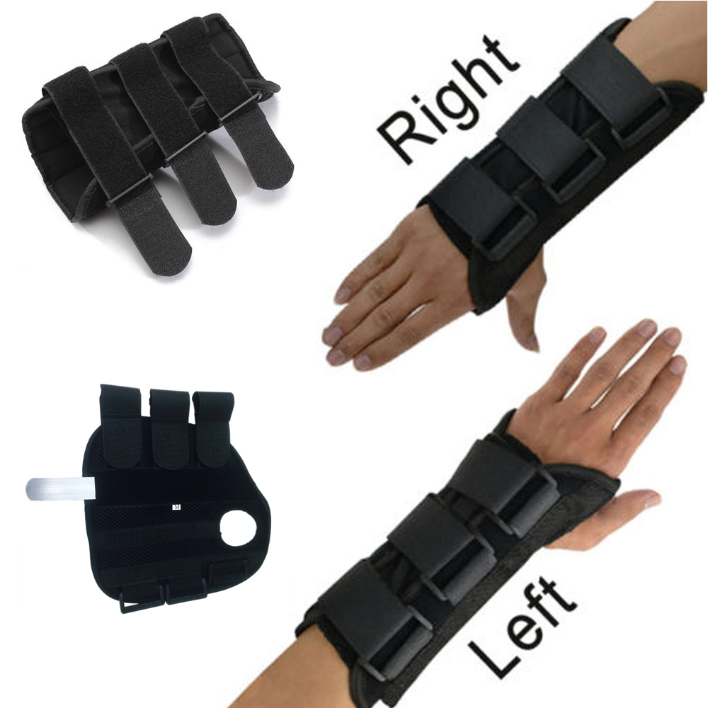 CFR New Carpal Tunnel Medical Wrist Support Brace Support Pads Sprain Forearm Splint Band Strap Protector Safe Three Magic Tape ...