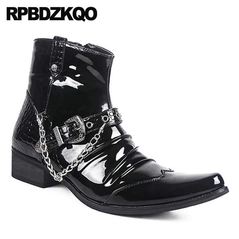 0071fa2a448 Detail Feedback Questions about Zipper Fashion Waterproof Ankle Punk ...