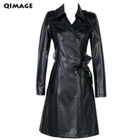 QIMAGE Leather Jackets Turkey Spring 2017 New Women S Leather Girls Long Slim Small Leather Motorcycle