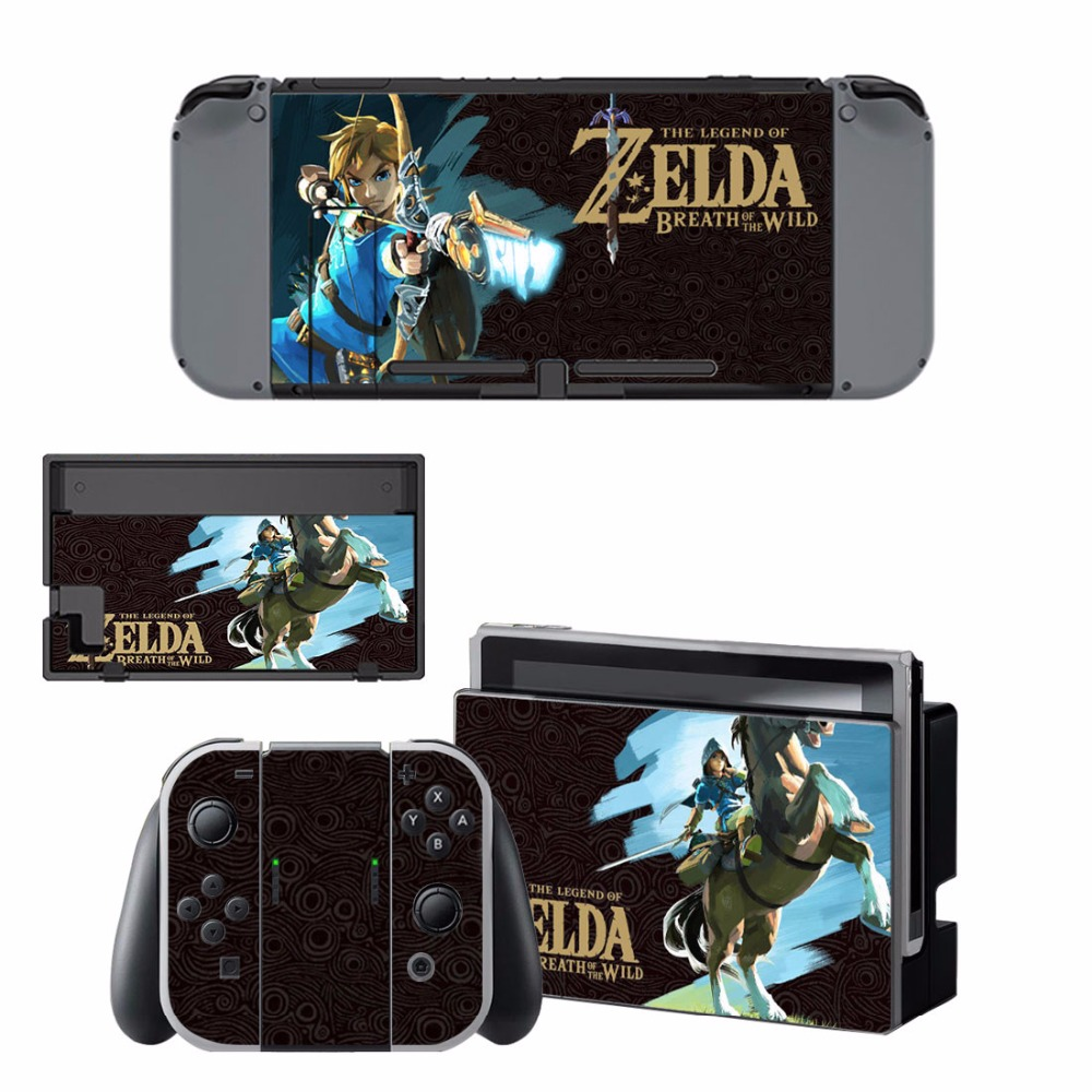 Nintend Switch Vinyl Skins Sticker For Nintendo Switch Console and Controller Skin Set - For The Legend of Zelda