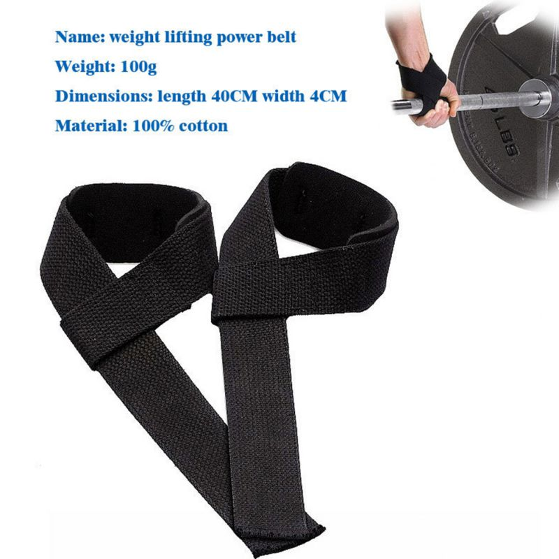 Sport Gym Weight Lifting Straps Warp Wristband Belt Support For Women Men 1 Pair