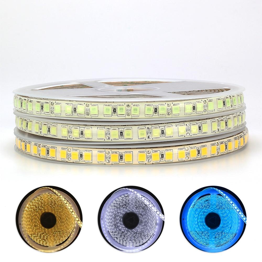 DC12V LED Strip 5054 120LEDs/m 5M High brightness LED Flexible Strip Light Warm white / cold white / ice blue IP20 IP65