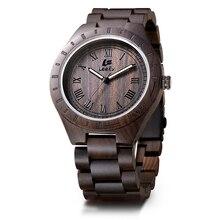 LeeEv Relógio De Madeira de Luxo 100% Sândalo Naturais de Quartzo De Madeira Relógio De Pulso para Homens Presente de Natal Xmas