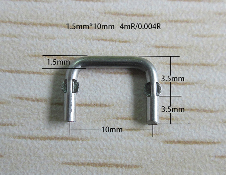 50pcs Constantan Resistance 1.5*10*4-12milliohm Constantan Wire Resistor Wire Diameter 1.5 Sampling Resistor Value 0.004Rohm/4MR
