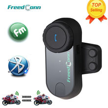 Intercomunicador Bluetooth Original T-COMOS FreedConn para casco de motocicleta, intercomunicador inalámbrico para 3 Rider + Radio FM + auricular blando(China)