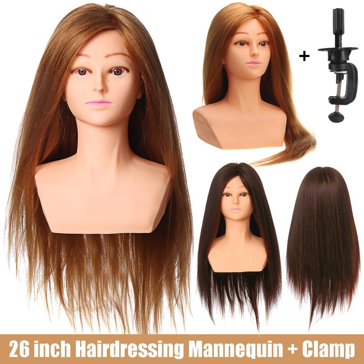 Tête de Mannequin de 65 cm avec tête de Mannequin d'entraînement de cheveux dorés