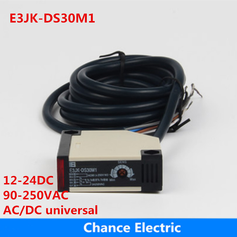купить E3JK-DS30M1 infrared 5 wires relay output Photoelectric photo Sensor Switch 12-24vac ,90-250vac ,ac/dc universal free shipping