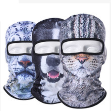 Balaclava Motorcycle Full Face Mask 3D Animal Cat Dog Hats Helmet Windproof Breathable Airsoft Paintball Snowboard Cycling Ski(China)