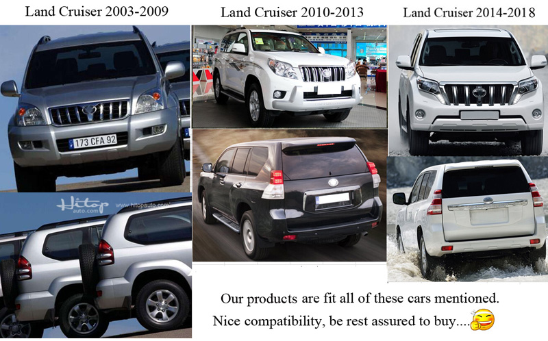 Hot side step nerf bar papan berjalan untuk Toyota Land Cruiser Prado - Suku cadang mobil - Foto 6