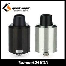 100%เดิมGeekVapeสึนามิ24 RDAเครื่องฉีดน้ำบุหรี่อิเล็กทรอนิกส์Rebuildableเครื่องฉีดน้ำถังกลวงบวกขาสำหรับSquonkสมัย