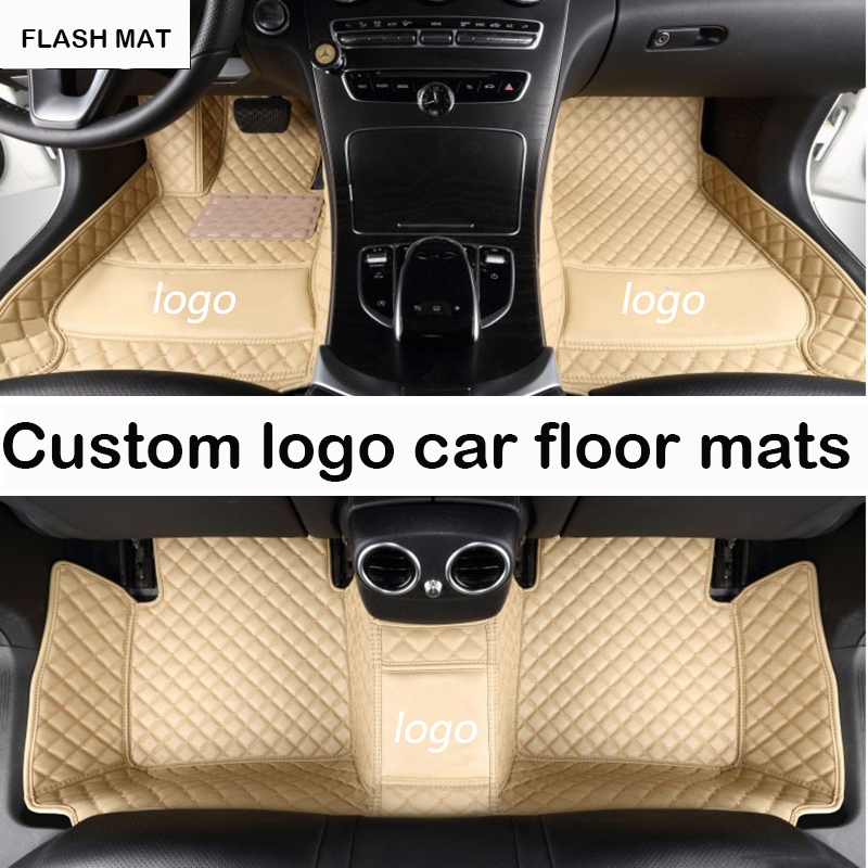 Custom LOGO car floor mats for Jaguar All Models Jaguar XF 2008-2017 XE XJ F-PACE F-TYPE auto accessories car mats