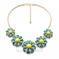 Shijie New Hot Sale 2014 Top New Design New Look Statement Flowers Necklace Latest Fashion Jewelry