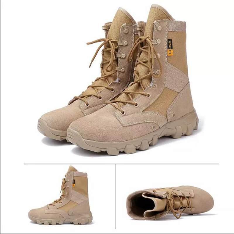 Hommes bottes militaires imperméable désert bottes tactiques armée chaussures Camping randonnée Sport travail sécurité escalade chaussures de plein air
