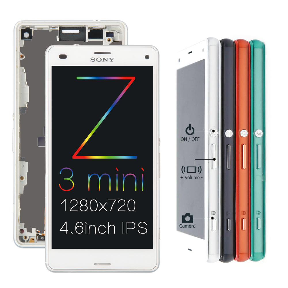 Image 3 - ORIGINAL For SONY Xperia Z3 Compact Display Frame Z3 Mini D5803 D5833 Replacement Display For SONY Xperia Z3 LCD D6603 D6633screen for sony z3sony xperia screentouch screen sony -