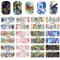 STZ Butterfly Beauty 12 Designs/Sets Full Cover Water Transfer Decals Nail Art Manicure DIY Sticker Sprinting Wraps A1297-1308