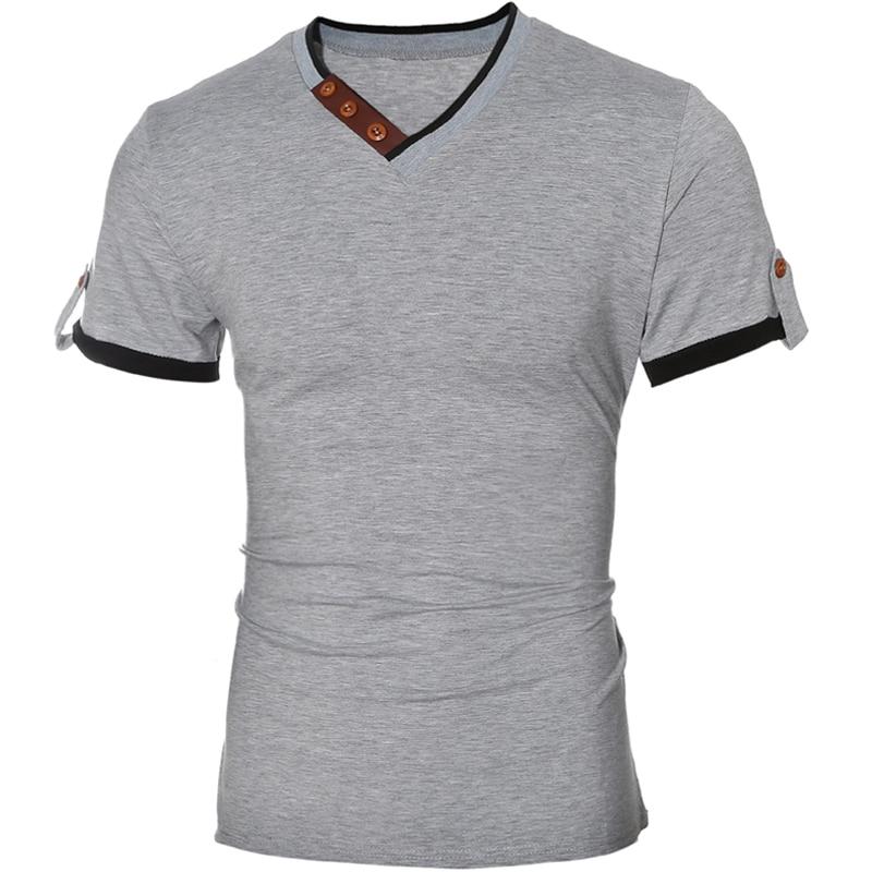2018 sommer neue mode marke clothing t-shirt männer einfarbig slim - Herrenbekleidung - Foto 2