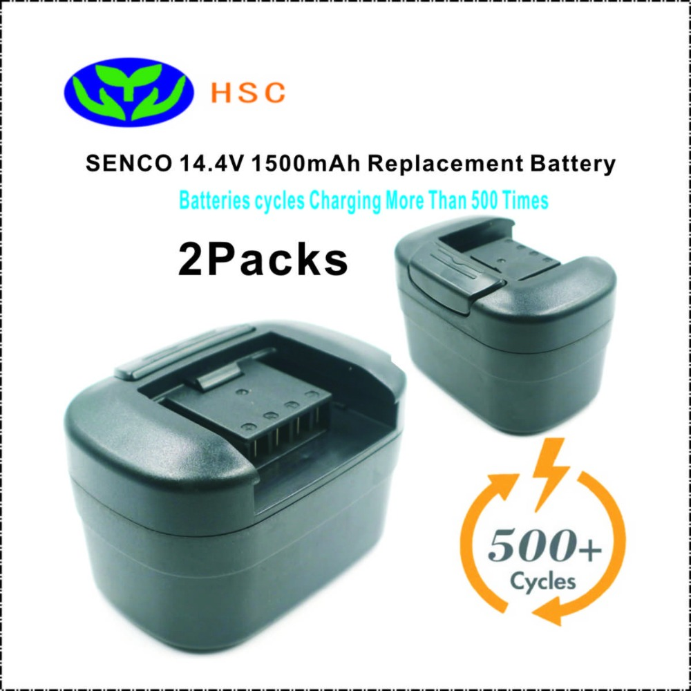 2 PCS SEN14.4A 1500 mAh 14.4 V NiCAD Batterij Vervanging SENCO VB0023, PPA014 Originele Batterij-in Batterij pack van Consumentenelektronica op  Groep 1