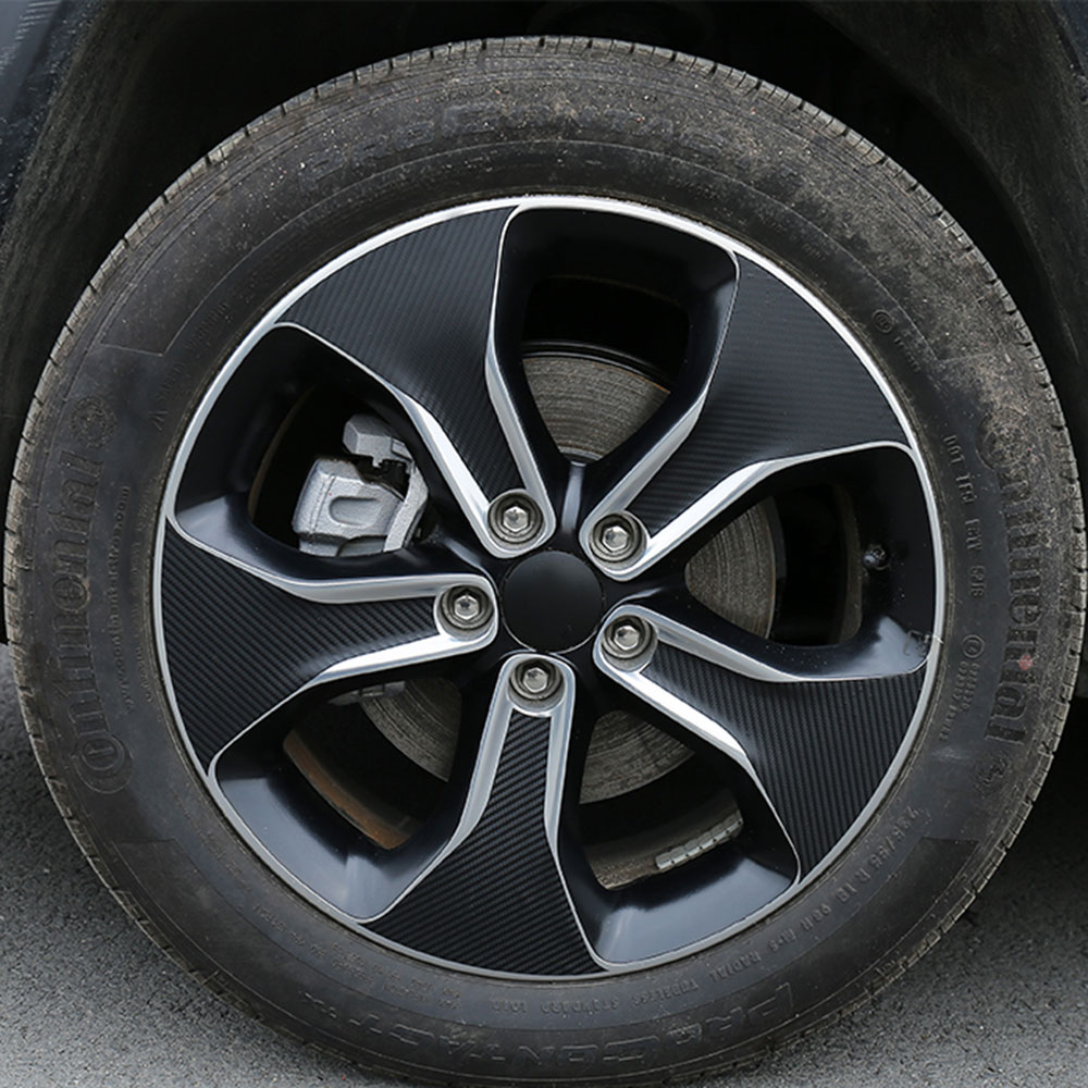 2019 Jeep Compass: CARBON FIBER TEXTURE WHEEL RIM STICKERS BODY DECAL FOR