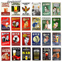 DL- The Beer Prayer Vintage Metal Tin Sign Retro Bar Home Pub Shop Wall Decor