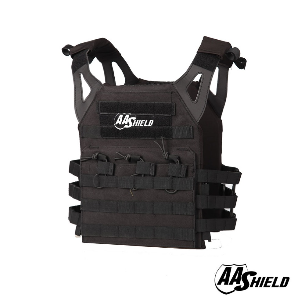 AA Shield Molle Hunting Plates Carrier Lightweight Military Tactical Vest JPC Style / BLACK aa shield camo tactical scarf outdoor military neckerchief forest hunting army kaffiyeh scarf light weight shemagh desert dig