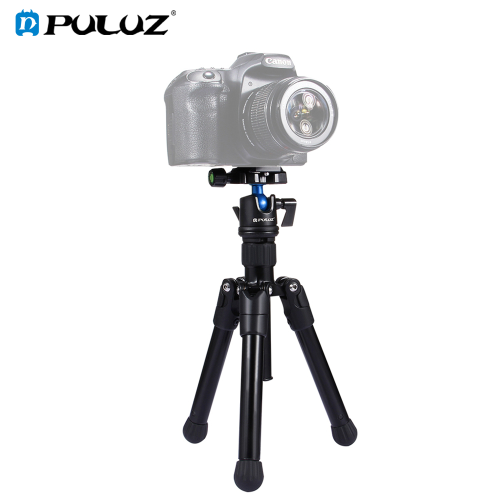 PULUZ Pocket Mini Microspur Photos Magnesium Alloy Tripod Mount with 360 Degree Ball Head for Sony Nikon DSLR & Digital Camera photography pocket mini tripod 360 degree ball head digital camera adjustable photo stand camera holder