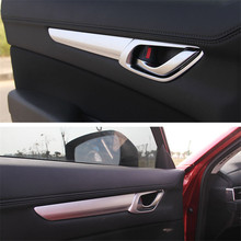 FIT FOR 2017 Mazda CX-5 handle trim modified two generation CX5 door door bowl bright decoration