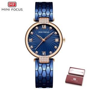 Image 5 - MINIFOCUS Moda Moderna Blu Vigilanza Del Quarzo Degli Uomini Delle Donne In Acciaio Inox Cinturino di Alta Qualità Casual Orologio Da Polso Regalo per la Femmina