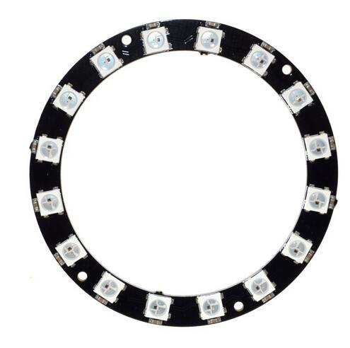 16 Bit WS2812 5050 RGB LED Intelligent Full-color Drive RGB Ring Development Board Large Ring