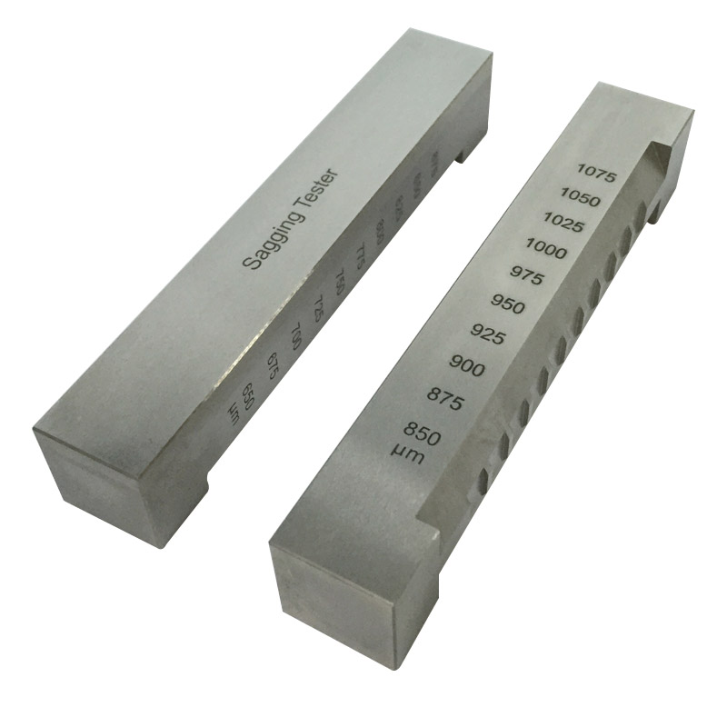 50-1075um Range Corrosion Resistant Stainless Steel Sagging Tester For Paints