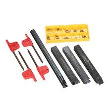 4 шт. S12M-SDUCR07/SDNCN1212H07/SDJCL1212H07/SDJCR1212H07 оправки + 10 шт. DCMT0702 вставки + 4 шт. ключи токарные Инструменты