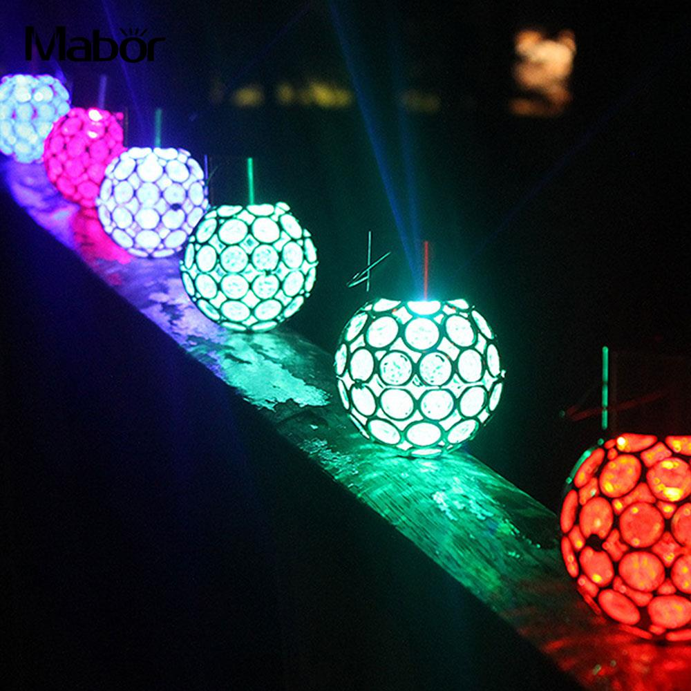 Solar Hanging LED Ball Lights Outdoor Waterproof LED Small ...