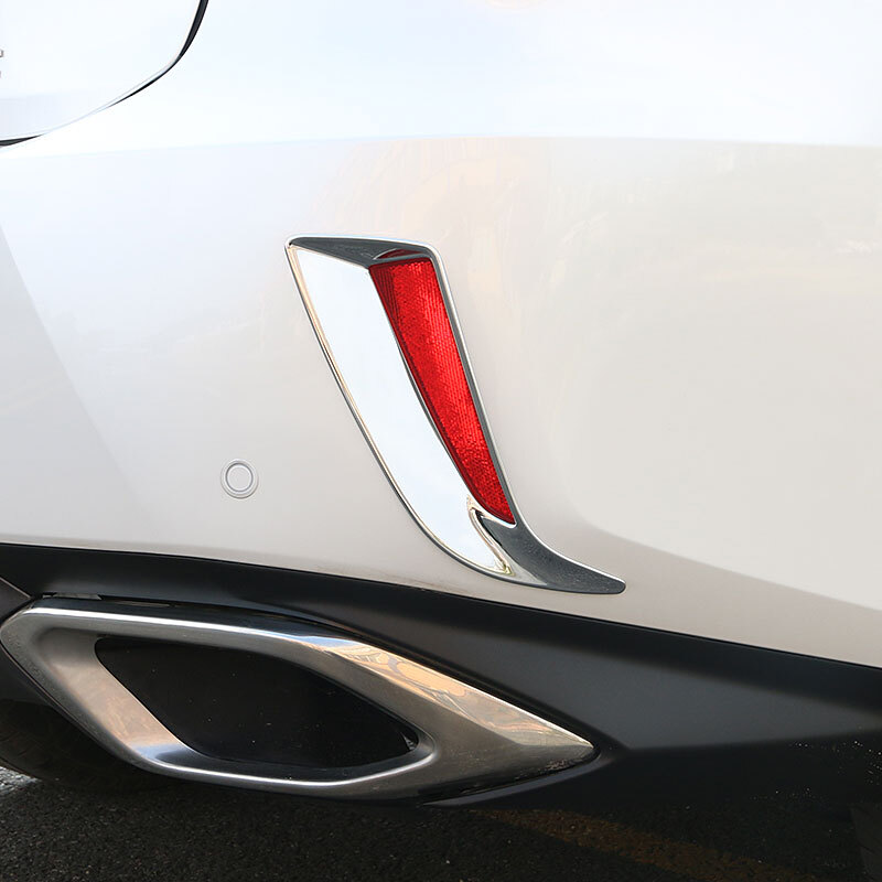 ABS Chrome For <font><b>Lexus</b></font> <font><b>RX350</b></font> 2016 2017 <font><b>2018</b></font> Exterior Auto <font><b>Accessories</b></font> Car rear fog lampshade Cover Trim Car Styling 2pcs image