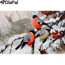 DIAPAI 5D DIY Diamond Painting 100% Full Square/Round Drill Bird deer snow Embroidery Cross Stitch 3D Decor A21646