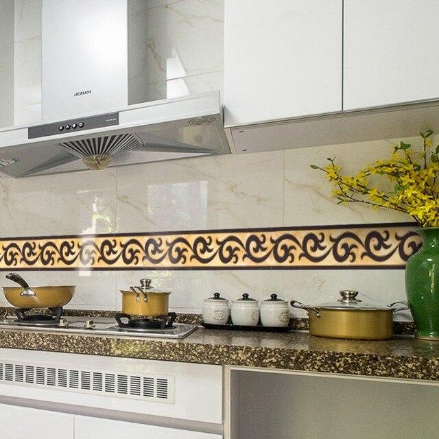 Etonnant PVC Wallpaper Border Stickers Living Room Waist Line Tiles Wall Sticker  Kitchen Waterproof Self Adhesive