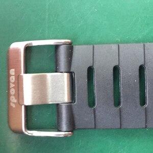 "Image 2 - מקורי 22 מ""מ שחור סיליקון גומי שעון רצועה עמיד למים ספורט צפו בנד עבור WristsWatch Spovan מנהיג 2/SPV709/ SPV710"