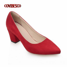 2016 New Plus Size 34-43 Fashion Vintage Woman Classic Design Platform Pumps,ladys Sexy Thick High Heeled Shoes for Women