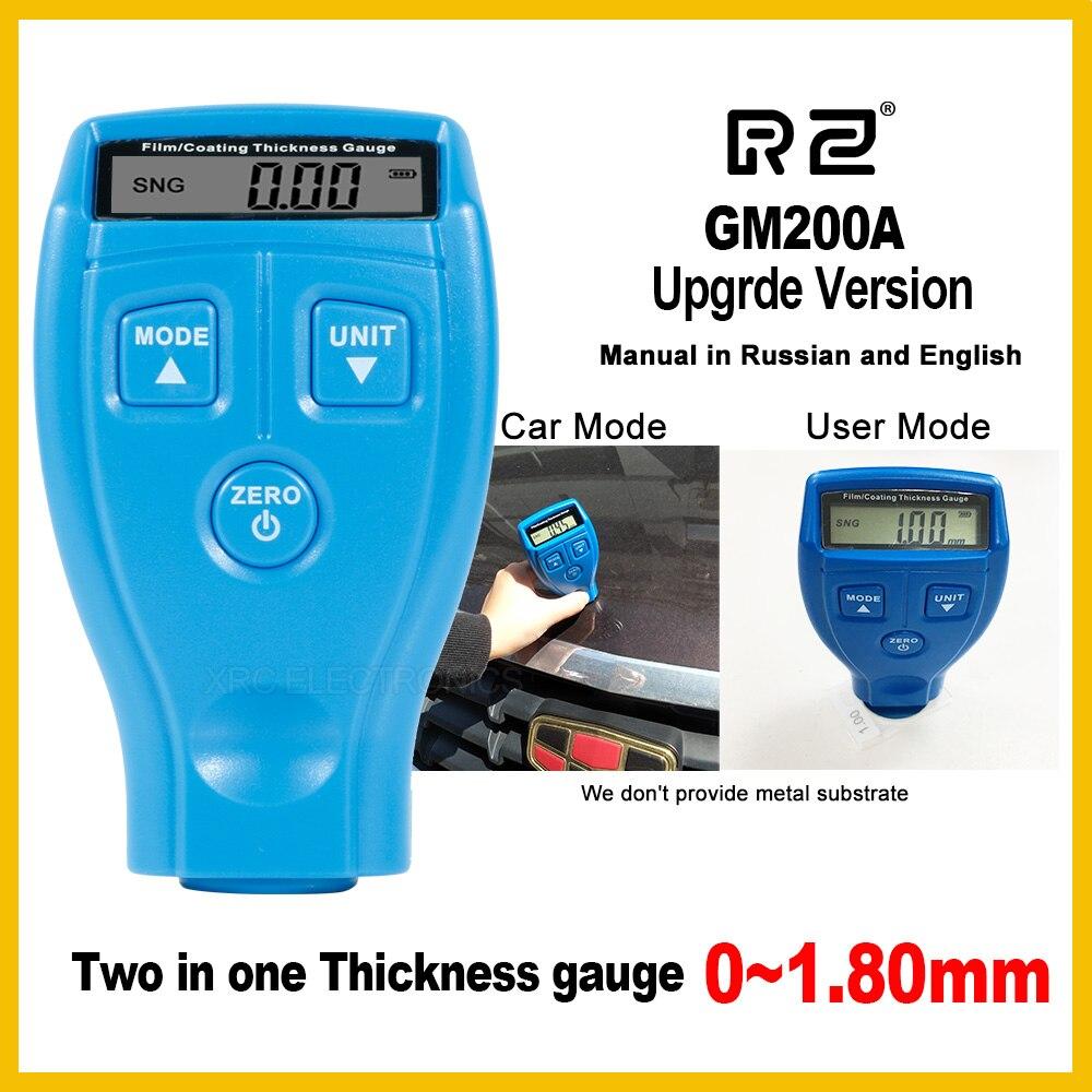 Genuino RZ versione Aggiornata GM200A Digital Automotive Auto Vernice Calibro di Spessore di e Vernice di Rivestimento della Pellicola per 1.8 millimetri 71mil