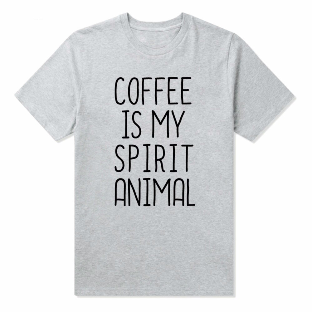 Coffee is my spirit animal print women tshirt for Drop ship t shirt printing