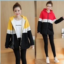 2019 Одежда для беременных 669902019 осень/зима новая Корейская версия утолщенное Пальто Повседневная Вышивка вельветовое пальто для беременных