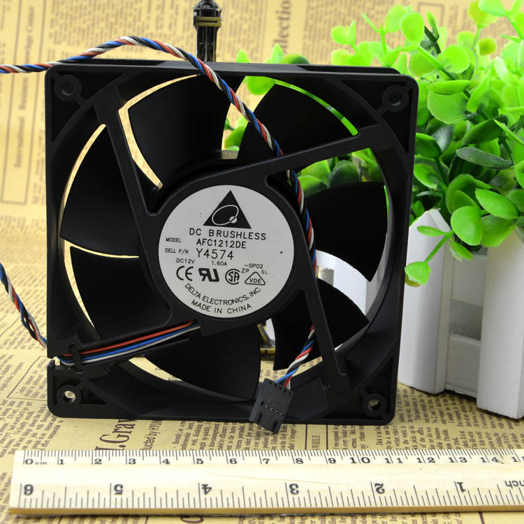 Delta winds of 12038 12V1.6A AFC1212DE 4 pwm smart thermostat wire chassis fan new mgt12048ub r38 12038 48v 0 6a winds of ipc fan for magic 120 120 38mm