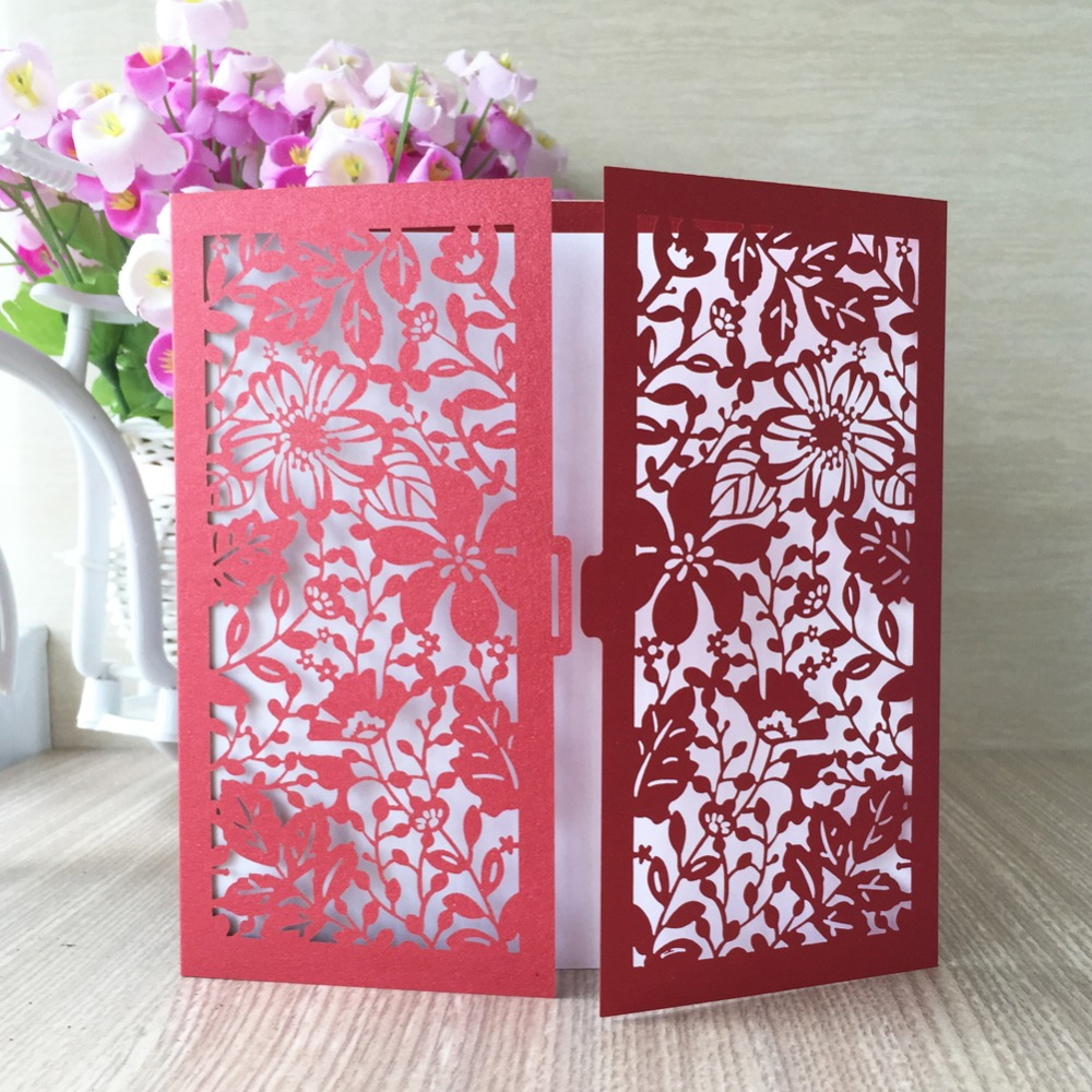 50pcs/lot for sale laser cut shimmer paper country style flower ...