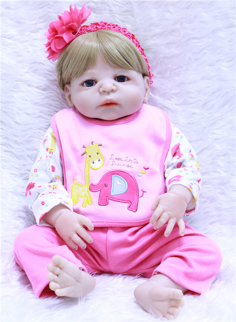 22 55 cm all Vinyl Reborn Baby Dolls Lifelike Silicone True touch Newborn Girl Toy with elephant clothes Baby Alive Doll Kid b22 55 cm all Vinyl Reborn Baby Dolls Lifelike Silicone True touch Newborn Girl Toy with elephant clothes Baby Alive Doll Kid b