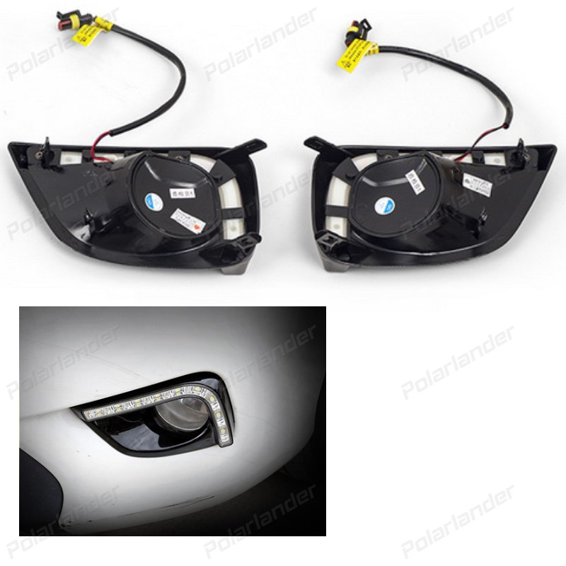 Car Styling LED DRL Daytime driving Light Super-bright Fog Lamp For T/oyota V/ios  2014-2015  Car 12V Auto Running lights
