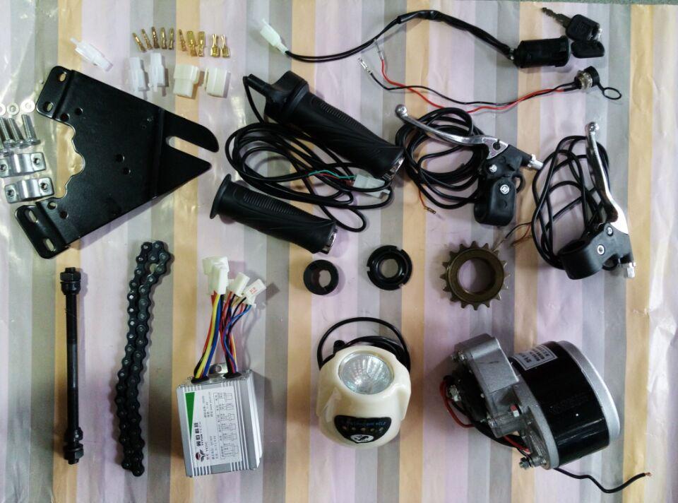 My1016z3 dc 36v 350w diy 22 28 brushed motor e bike kit for Diy electric motor repair