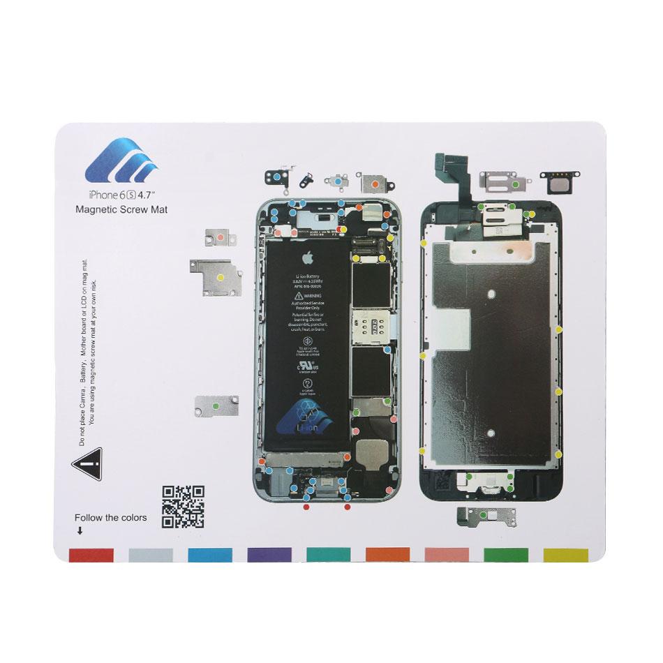 DIYFIX 1PC Professional Guide Pad for iPhone 7 Plus 6s 6 5s 5 Magnetic Screw Keeper Chart Mat Mobile Phone Repair Tools